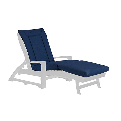 Navy Chaise Lounge Cushion Pad