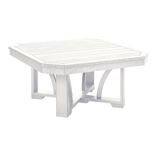 St Tropez 35-inch Square Cocktail Table-White