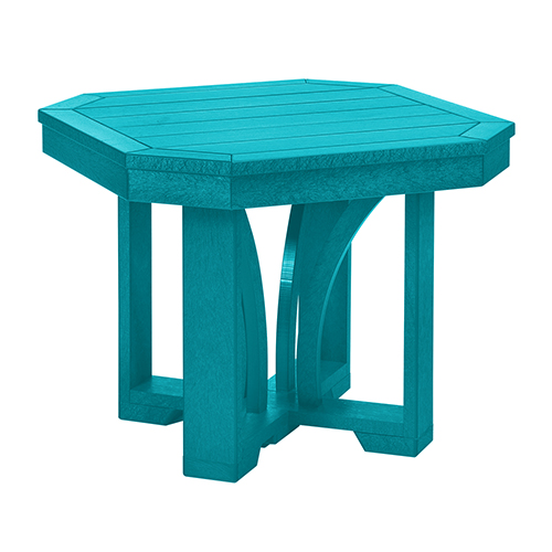 St. Tropez Turquoise 25-Inch Square End Table