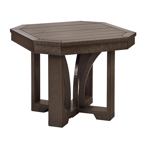 St Tropez 25-inch Square End Table -Chocolate