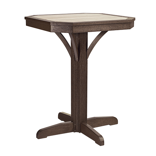 St Tropez 28-inch Square Counter Pedestal Table