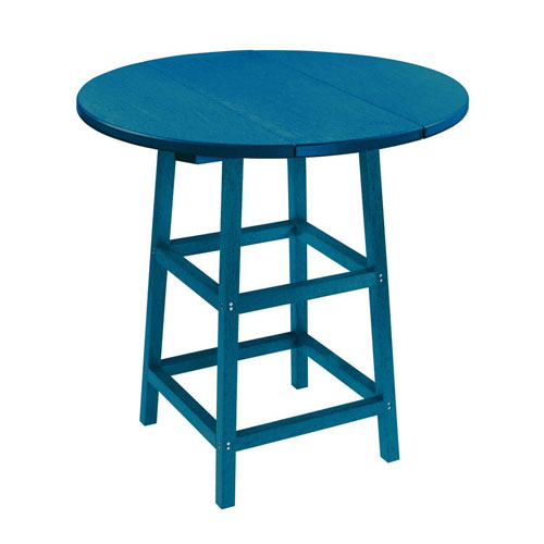 Pacific Blue 32-Inch Round Pub Height Patio Table