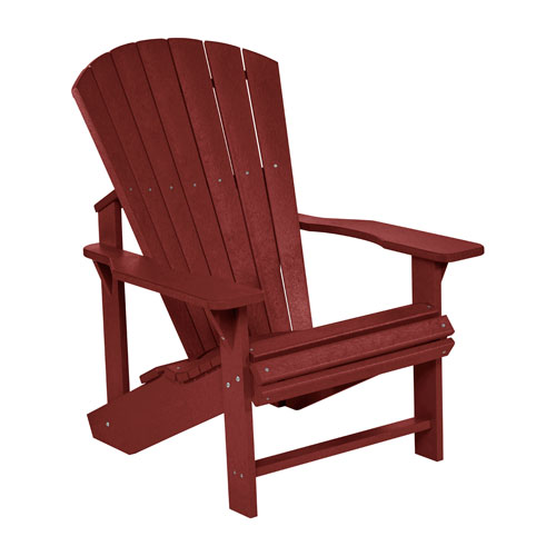 C.R. Plastic Products Generation Burgundy Adirondack Chair