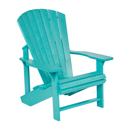 C.R. Plastic Products Generation Turquoise Adirondack Chair