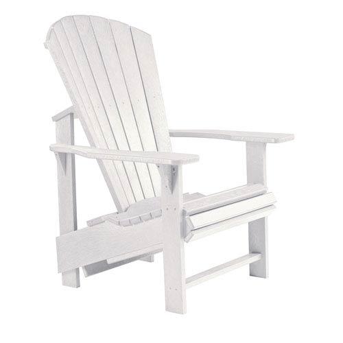 Generations Upright Adirondack Chair-White