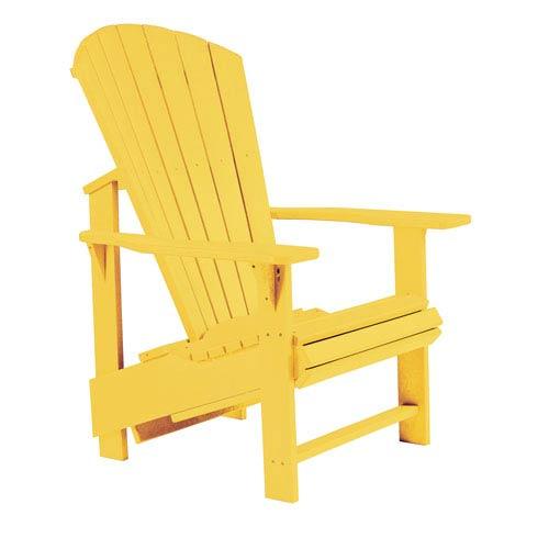 Generations Upright Adirondack Chair-Yellow