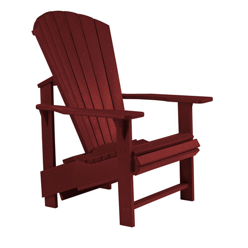 C.R. Plastic Products Generation Burgundy Upright Chair