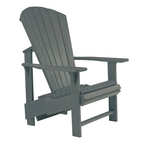 Generations Upright Adirondack Chair-Slate Grey
