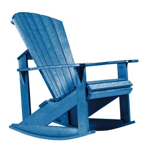 Generations Adirondack Rocking Chair-Blue