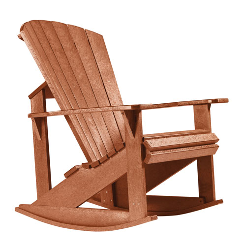C.R. Plastic Products Generations Adirondack Rocking Chair-Cedar