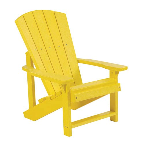 Merveilleux C.R. Plastic Products Generations Kids Adirondack Chair Yellow
