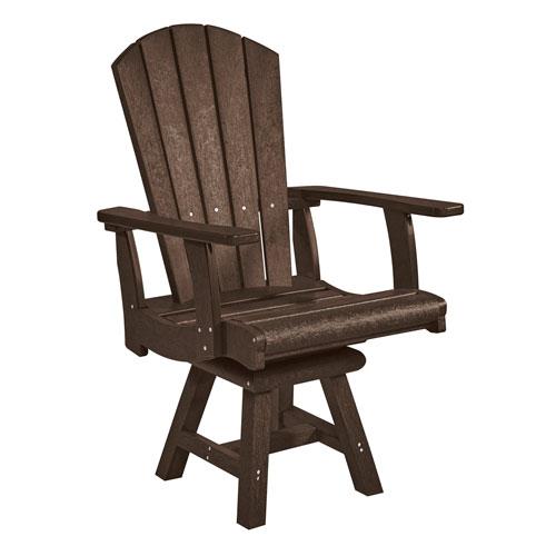 Generation Chocolate Addy Swivel Dining Arm Chair