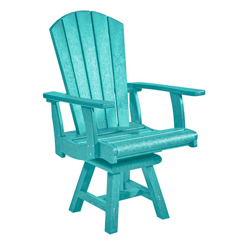 C.R. Plastic Products Generation Turquoise Addy Dining Arm Chair