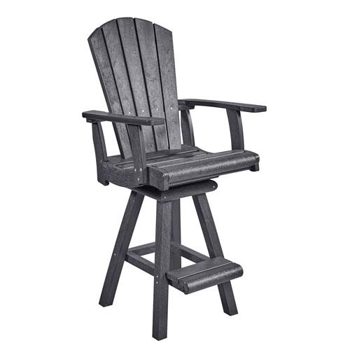 C.R. Plastic Products Generation Slate Grey Pub Arm Chair