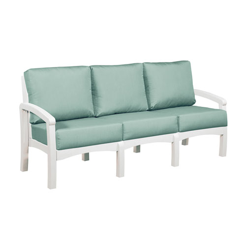 C.R. Plastic Products Bay Breeze Spa Sofa with Cushions