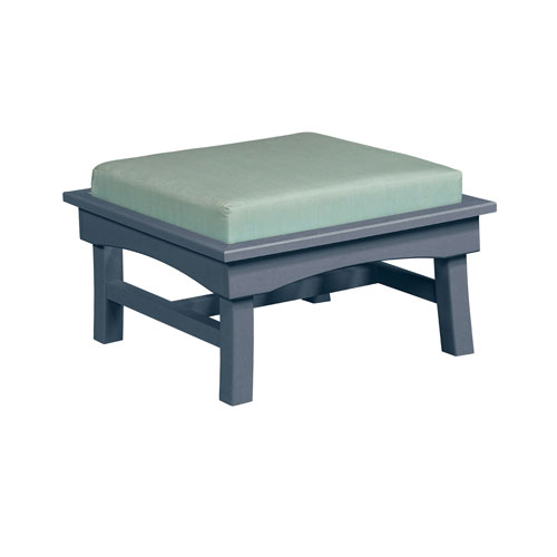 C.R. Plastic Products Bay Breeze Spa Large Ottoman with Cushion