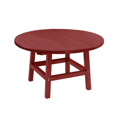 C.R. Plastic Products Generation Burgundy 32-Inch Round Table