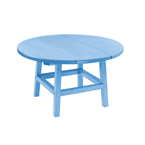 C R Plastic Products Generation Sky Blue 32 Inch Round Table