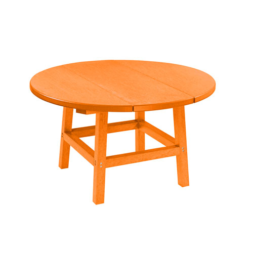 C.R. Plastic Products Generation Orange 32-Inch Round Table