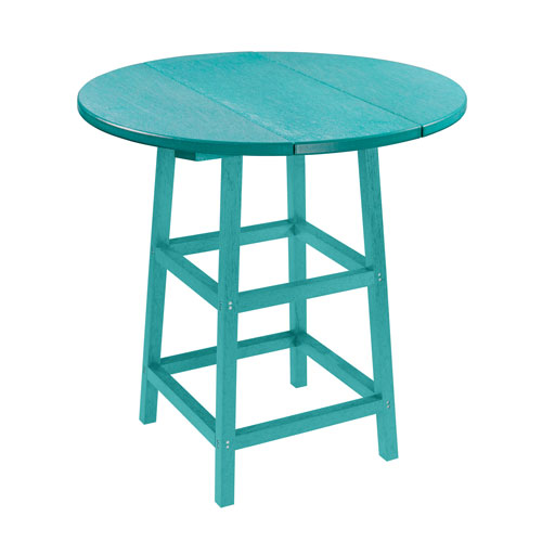 C.R. Plastic Products Generation Turquoise 32-Inch Round Table