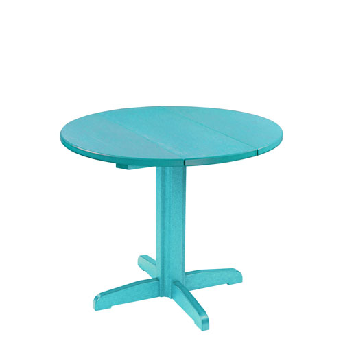 Generation 32-Inch Turquoise Round TableTop with a 30-Inch Dining Pedestal Base