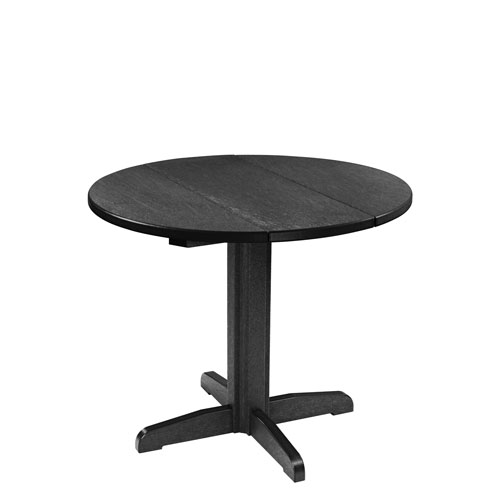 C.R. Plastic Products Generation 32 Inch Black Round TableTop With A  30 Inch Dining
