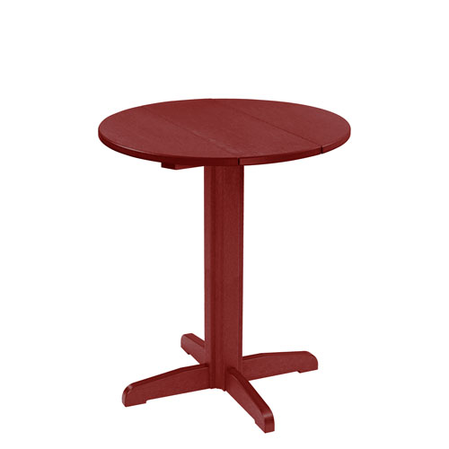 C.R. Plastic Products Generation 32-Inch Burgundy Round Table Top with a 40-Inch Pub Pedestal Base