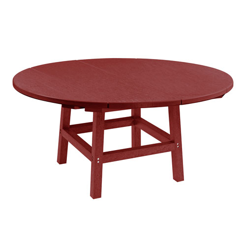 Generation Burgundy 40-Inch Round Table Top with 17-Inch Cocktail Table Legs