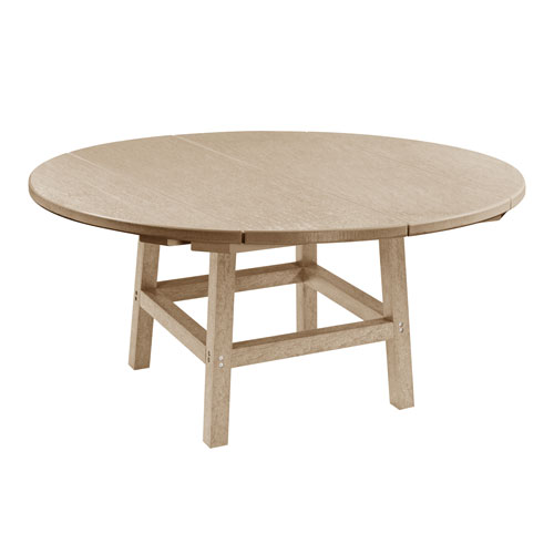 C.R. Plastic Products Generation Beige 40-Inch Round Table Top with 17-Inch Cocktail Table Legs