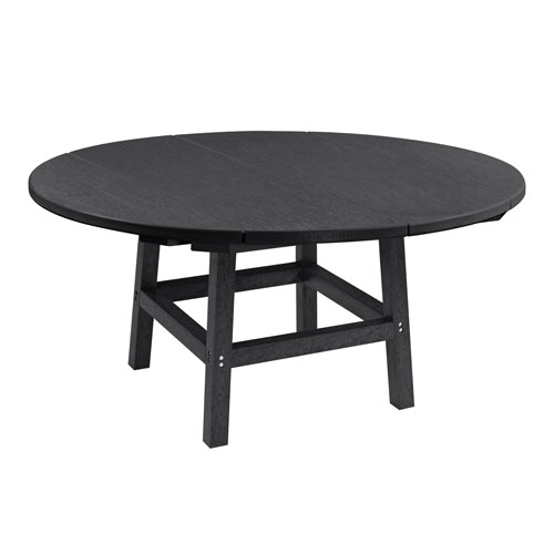 C.R. Plastic Products Generation Black 40 Inch Round Table Top With 17 Inch  Cocktail