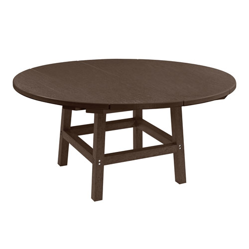 C.R. Plastic Products Generation Chocolate 40-Inch Round Table Top with 17-Inch Cocktail Table Legs