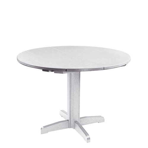 CR Plastic Products Generation White Inch Round Table Top With - 40 inch round pedestal table