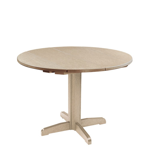 C R Plastic Products Generation Beige 40 Inch Round Table Top With 30 Dining Pedestal Base