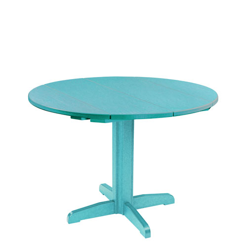 Generation Turquoise 40-Inch Round Table Top with 30-Inch Dining Pedestal Base