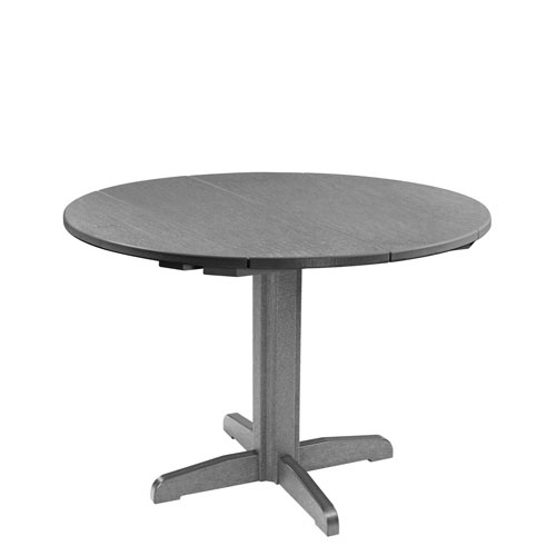C.R. Plastic Products Generation Slate Grey 40 Inch Round Table Top With  30 Inch