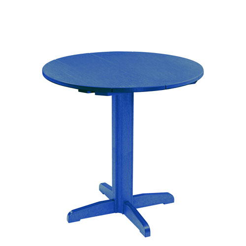 Generation Blue 40-Inch Round Table Top with 40-Inch Pub Pedestal Base
