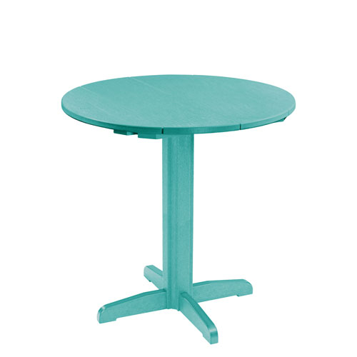Generation Turquoise 40-Inch Round Table Top with 40-Inch Pub Pedestal Base