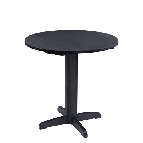 C.R. Plastic Products Generation Black 40 Inch Round Table Top With 40 Inch  Pub Pedestal Base