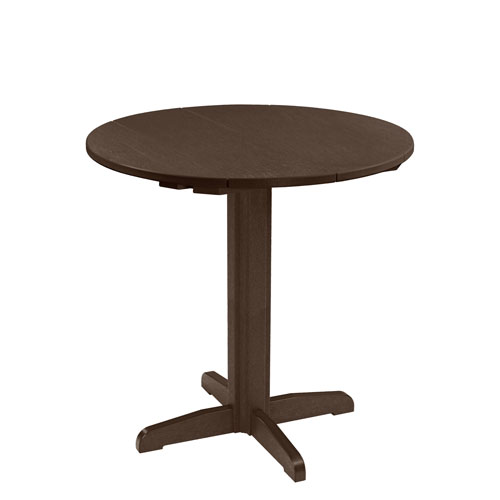 C.R. Plastic Products Generation Chocolate 40-Inch Round Table Top with 40-Inch Pub Pedestal Base