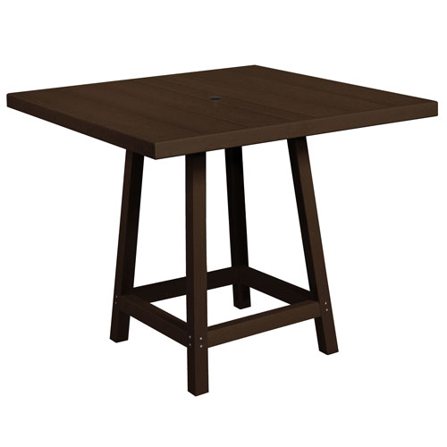 Generation Chocolate 40-Inch Square Pub Table Top with 40-Inch Pub Table Legs