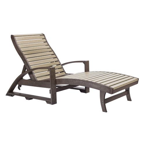St Tropez Chaise Lounge with Wheels