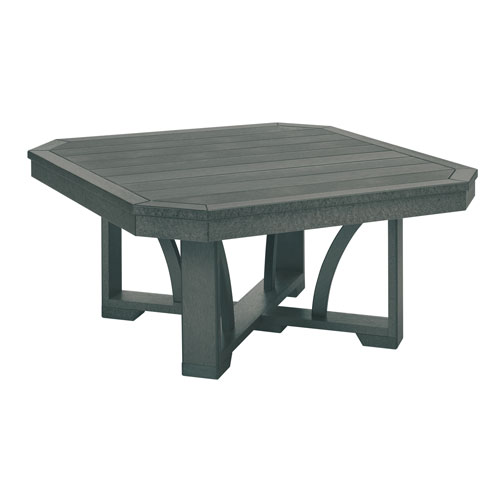 C.R. Plastic Products St. Tropez Slate Grey 35-Inch Square Cocktail Table