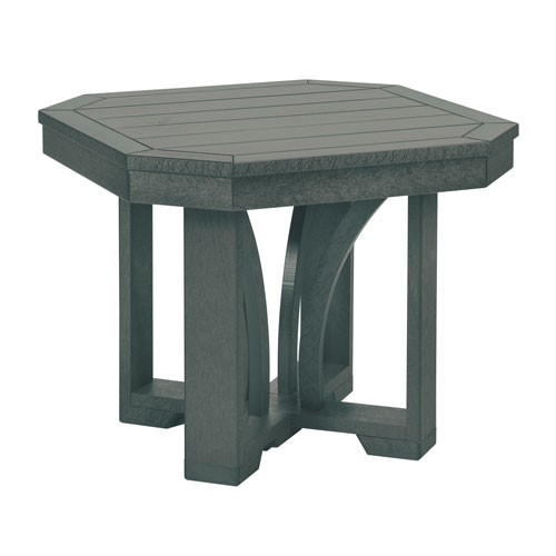 C.R. Plastic Products St. Tropez Slate Grey 25-Inch Square End Table