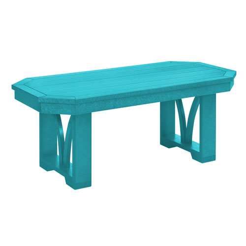 St. Tropez Turquoise Rectangular Cocktail Table