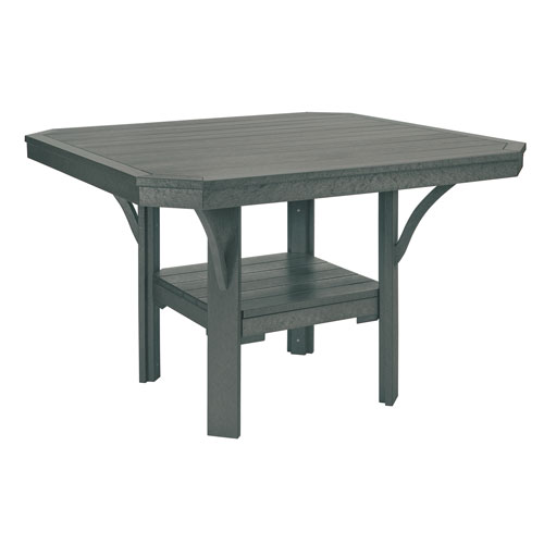 C.R. Plastic Products St. Tropez Slate Grey 45-Inch Square Dining Table
