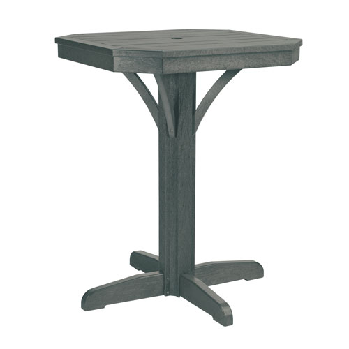 C.R. Plastic Products St. Tropez Slate Grey 28-Inch Square Counter Table