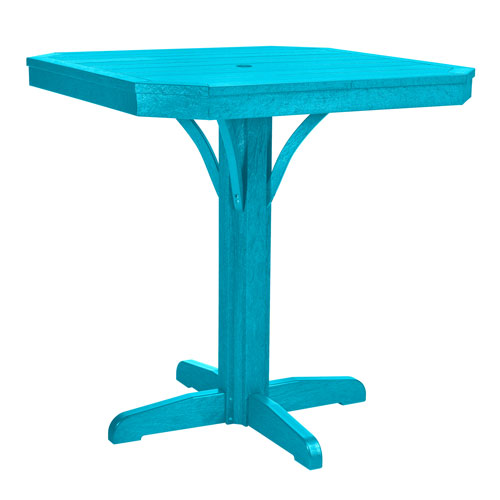 C.R. Plastic Products St. Tropez Turquoise 35-Inch Square Counter Table