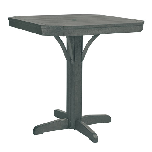 C.R. Plastic Products St. Tropez Slate Grey 35-Inch Square Counter Table