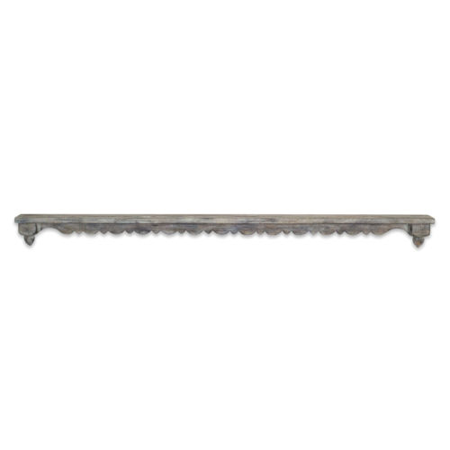 Gray and Brown 48-Inch Wall Shelf