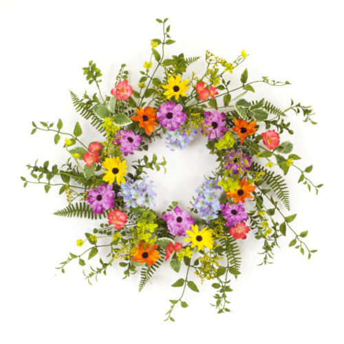 Multicolor Seven-Inch Mixed Floral Wreath